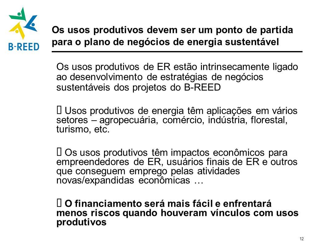 Os usos produtivos devem ser um ponto de partida para o plano de negócios de energia sustentável