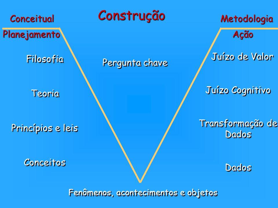 Construção Conceitual Metodologia Planejamento Ação Juízo de Valor