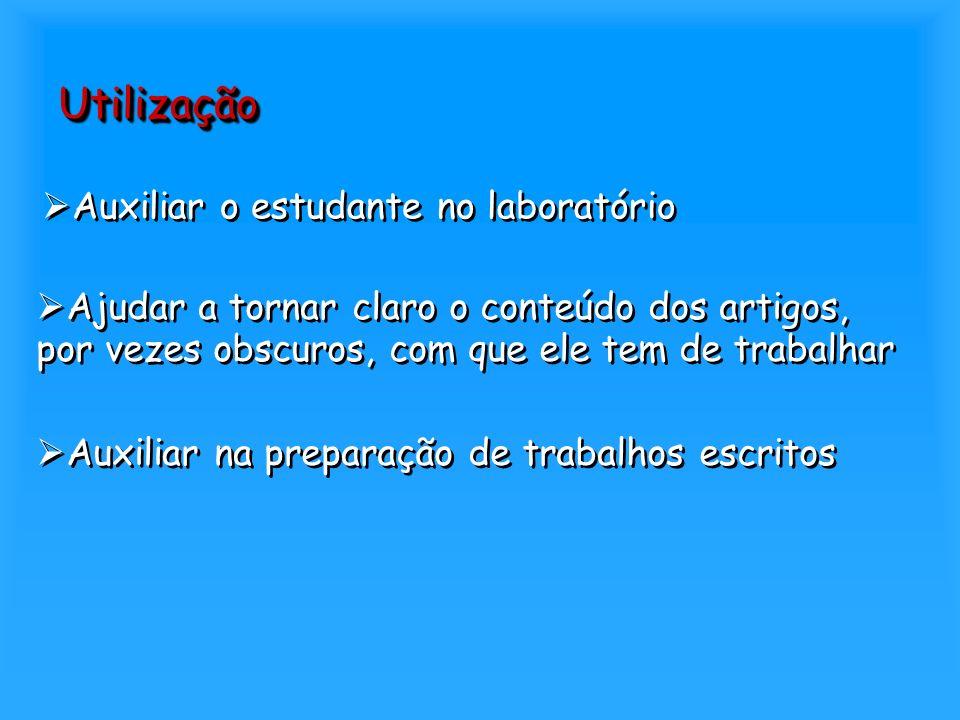 Utilização Auxiliar o estudante no laboratório