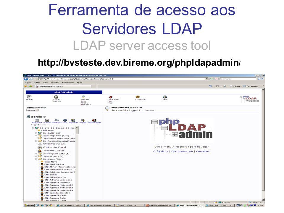 Ferramenta de acesso aos Servidores LDAP LDAP server access tool