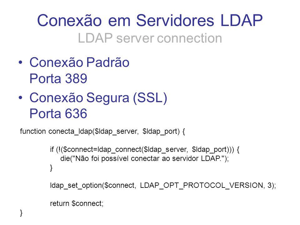 Conexão em Servidores LDAP LDAP server connection