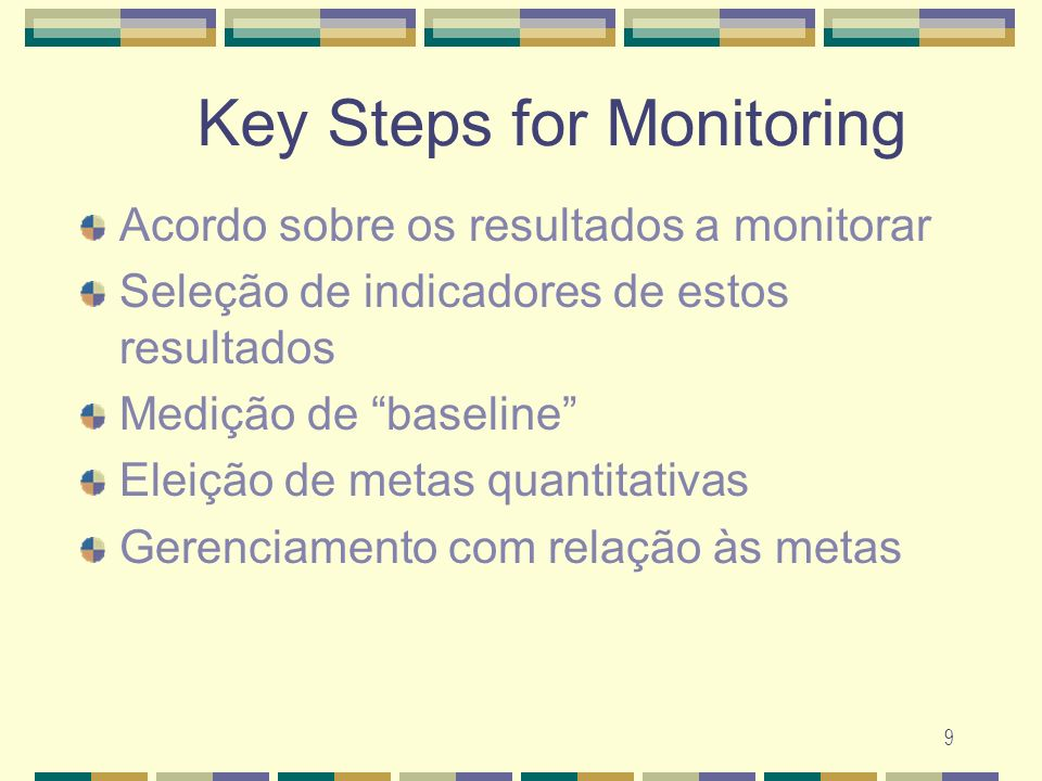 Key Steps for Monitoring