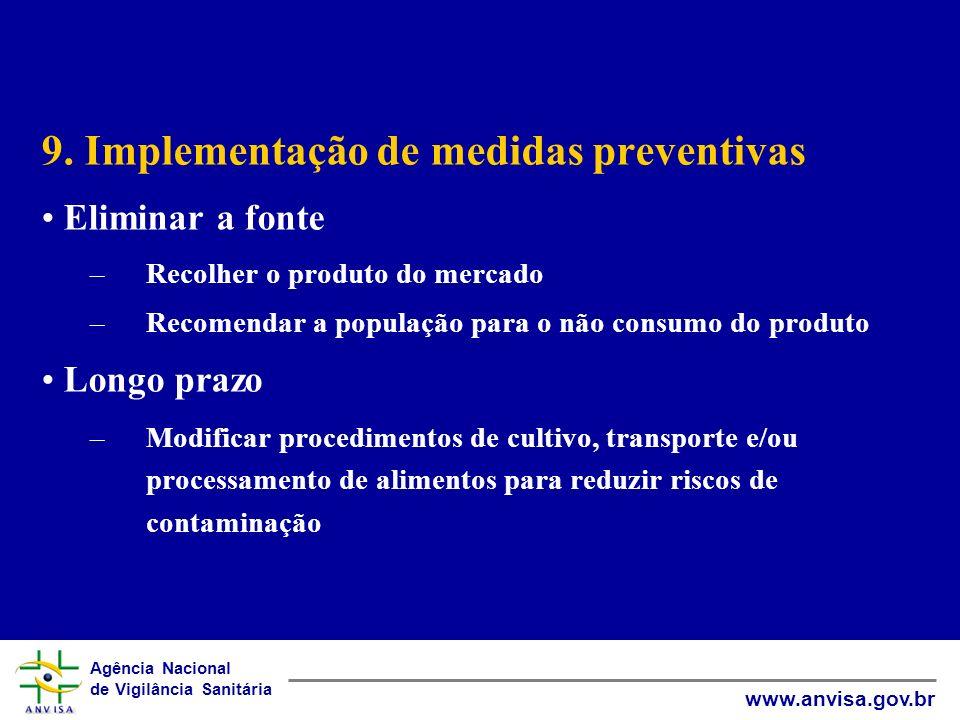 9. Implementação de medidas preventivas