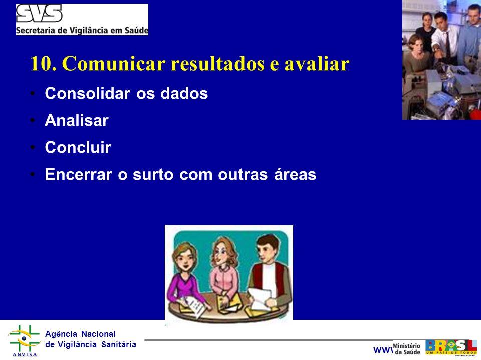 10. Comunicar resultados e avaliar