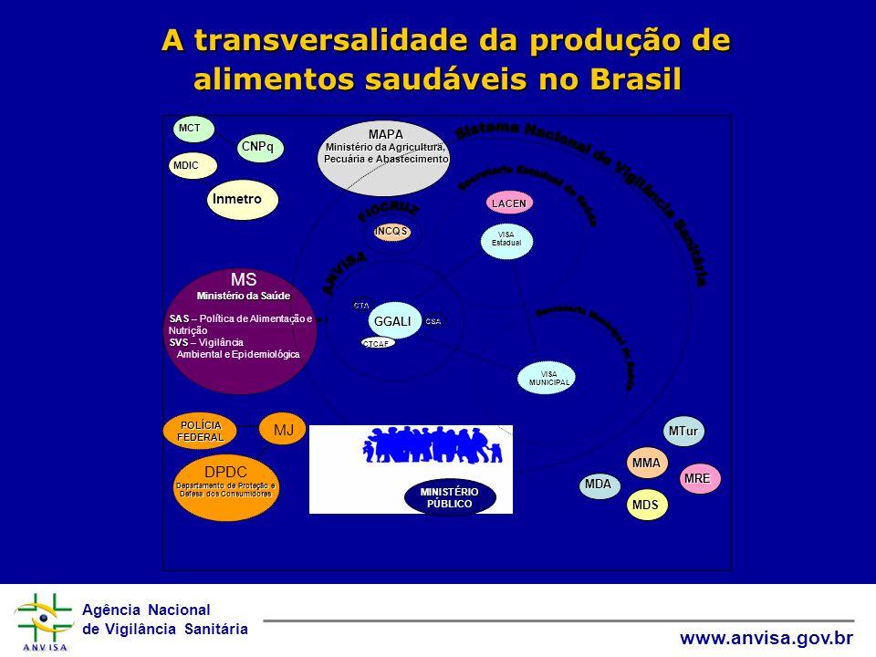 A transversalidade da produção de alimentos saudáveis no Brasil
