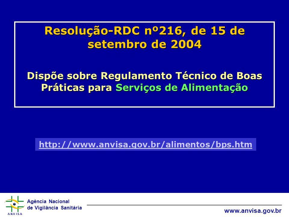 Resolução-RDC nº216, de 15 de setembro de 2004