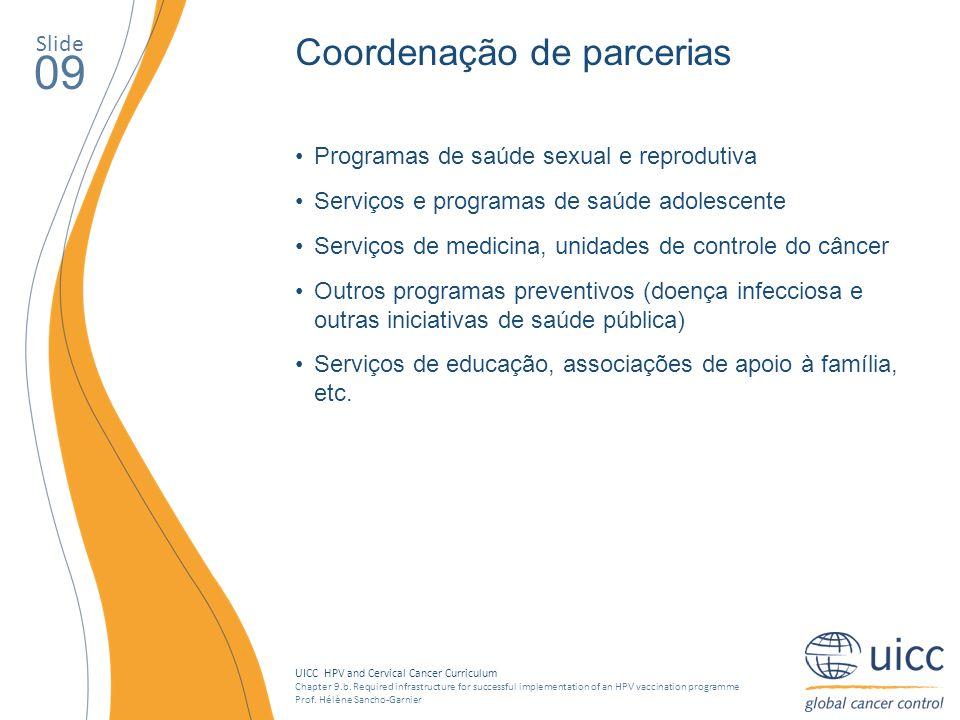 09 Coordenação de parcerias Slide