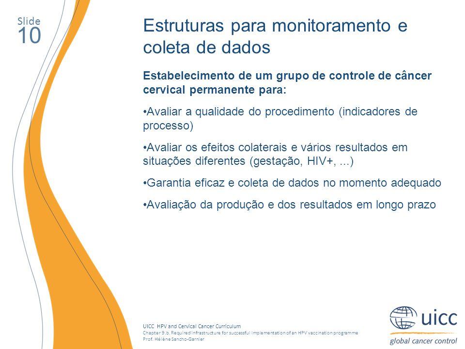 10 Estruturas para monitoramento e coleta de dados Slide