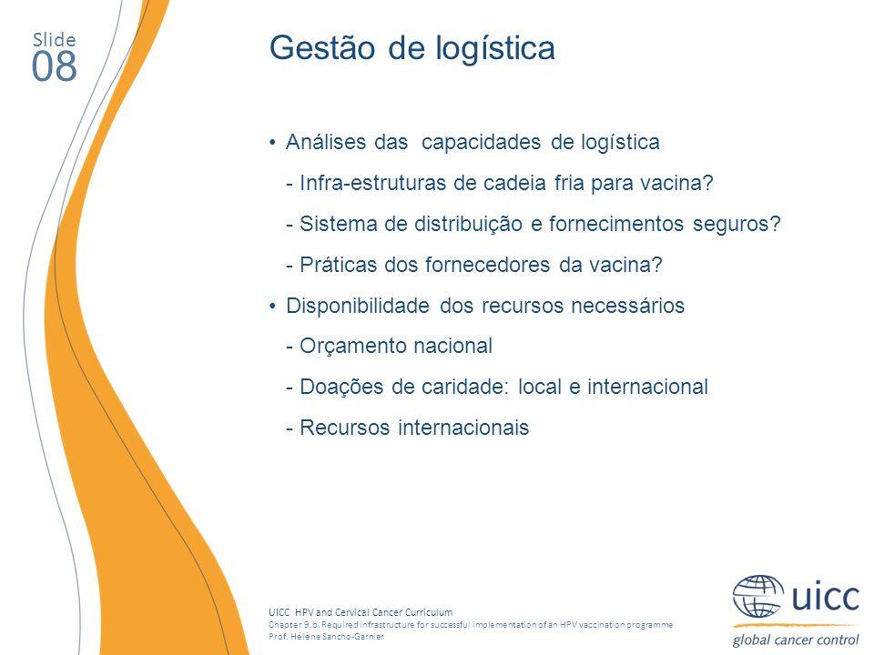08 Gestão de logística Slide Análises das capacidades de logística