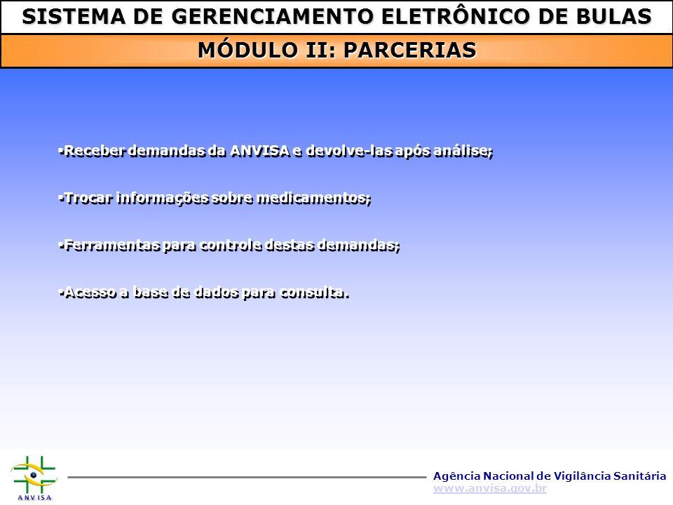 SISTEMA DE GERENCIAMENTO ELETRÔNICO DE BULAS