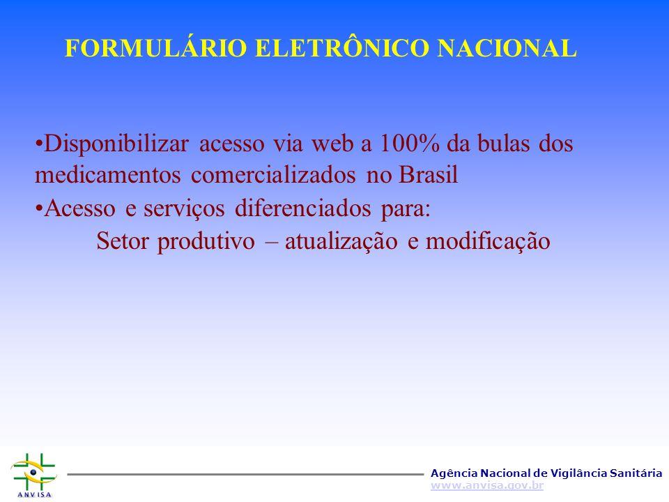 FORMULÁRIO ELETRÔNICO NACIONAL