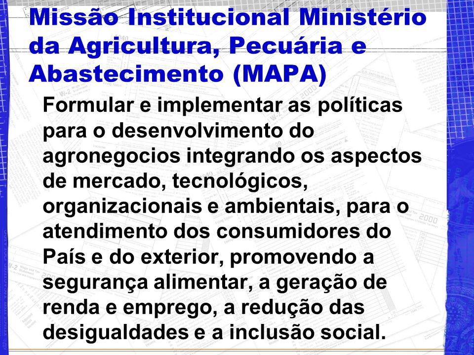 Missão Institucional Ministério da Agricultura, Pecuária e Abastecimento (MAPA)