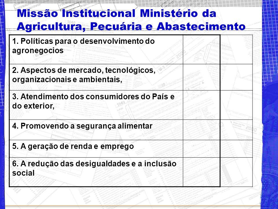 Missão Institucional Ministério da Agricultura, Pecuária e Abastecimento