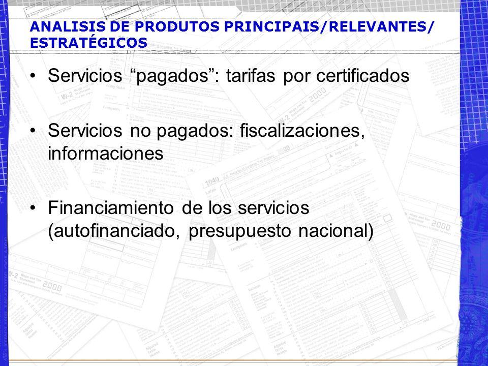 ANALISIS DE PRODUTOS PRINCIPAIS/RELEVANTES/ ESTRATÉGICOS