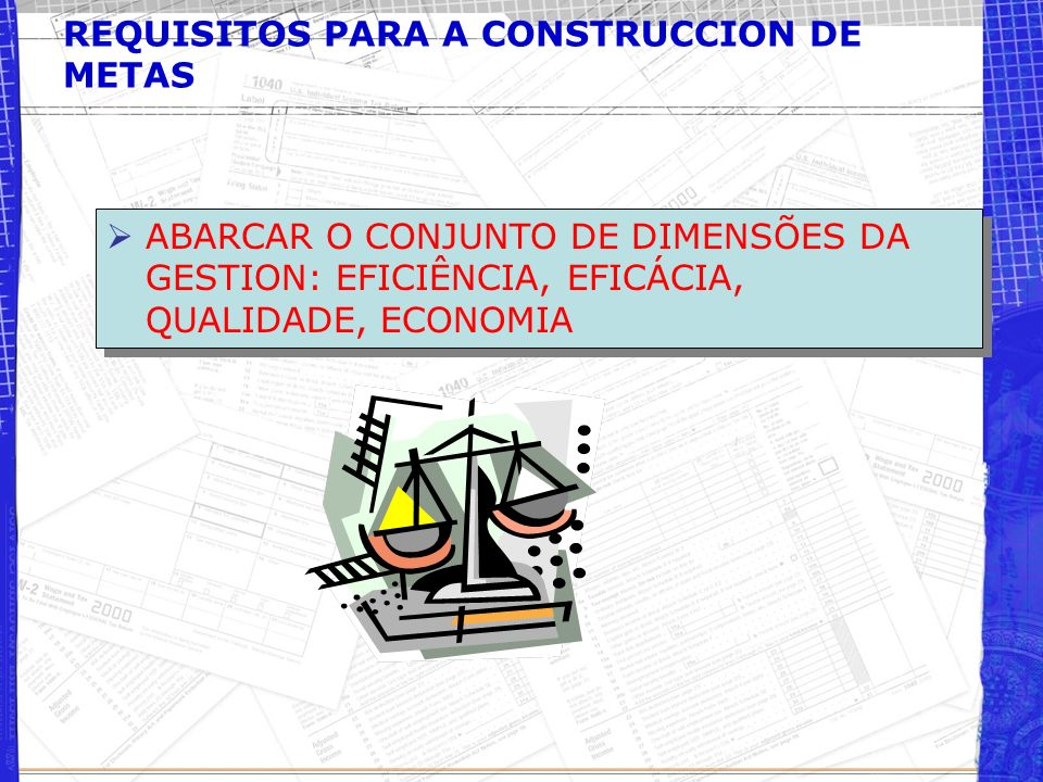 REQUISITOS PARA A CONSTRUCCION DE METAS