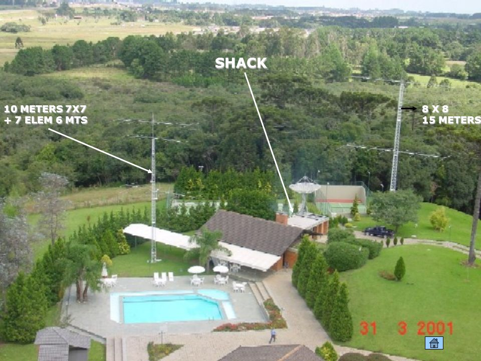 SHACK 10 METERS 7X7 + 7 ELEM 6 MTS 8 X 8 15 METERS