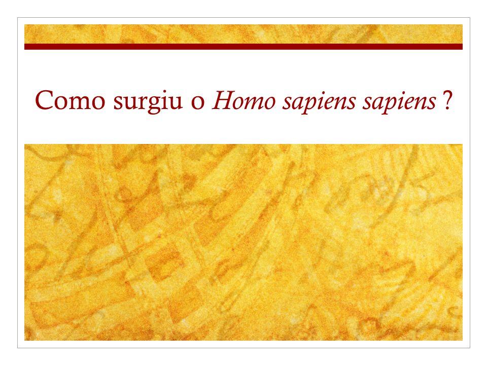 Como surgiu o Homo sapiens sapiens