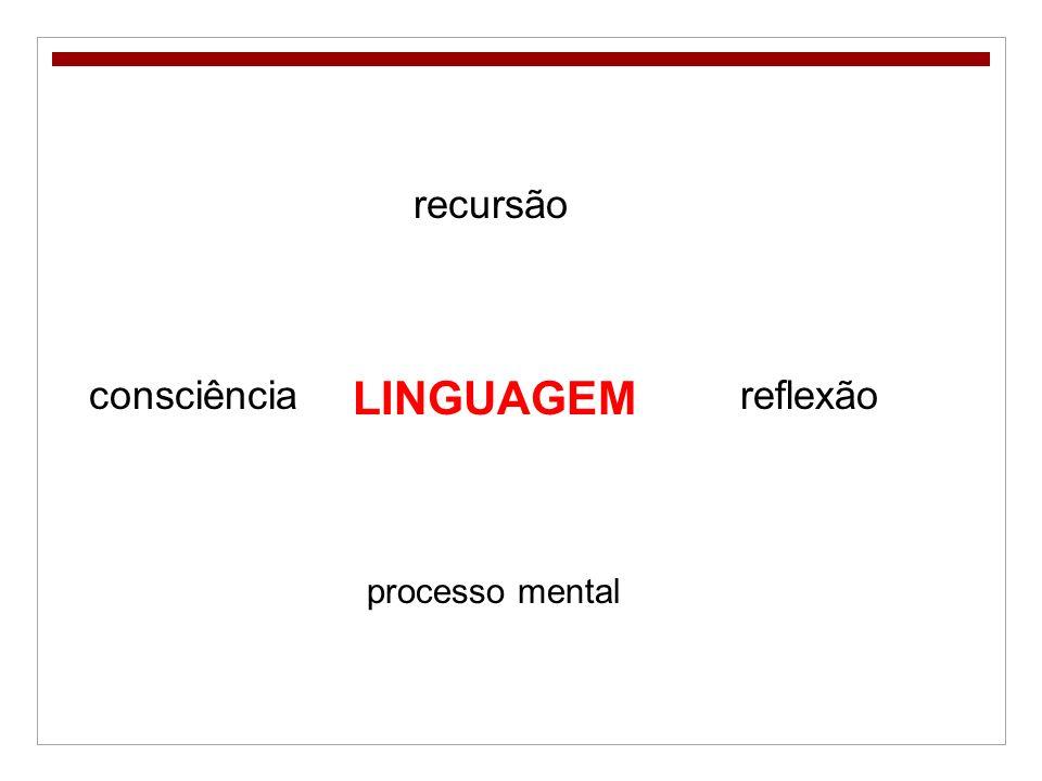 recursão consciência LINGUAGEM reflexão processo mental