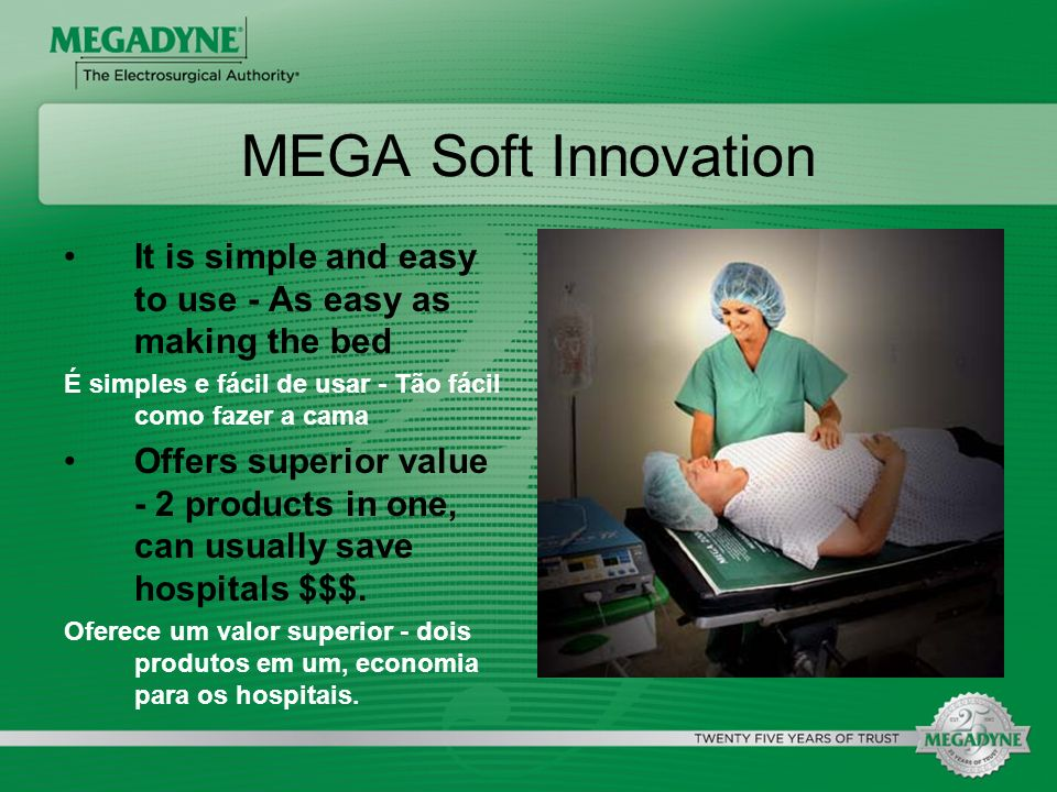 MEGA Soft Innovation It is simple and easy to use - As easy as making the bed. É simples e fácil de usar - Tão fácil como fazer a cama.