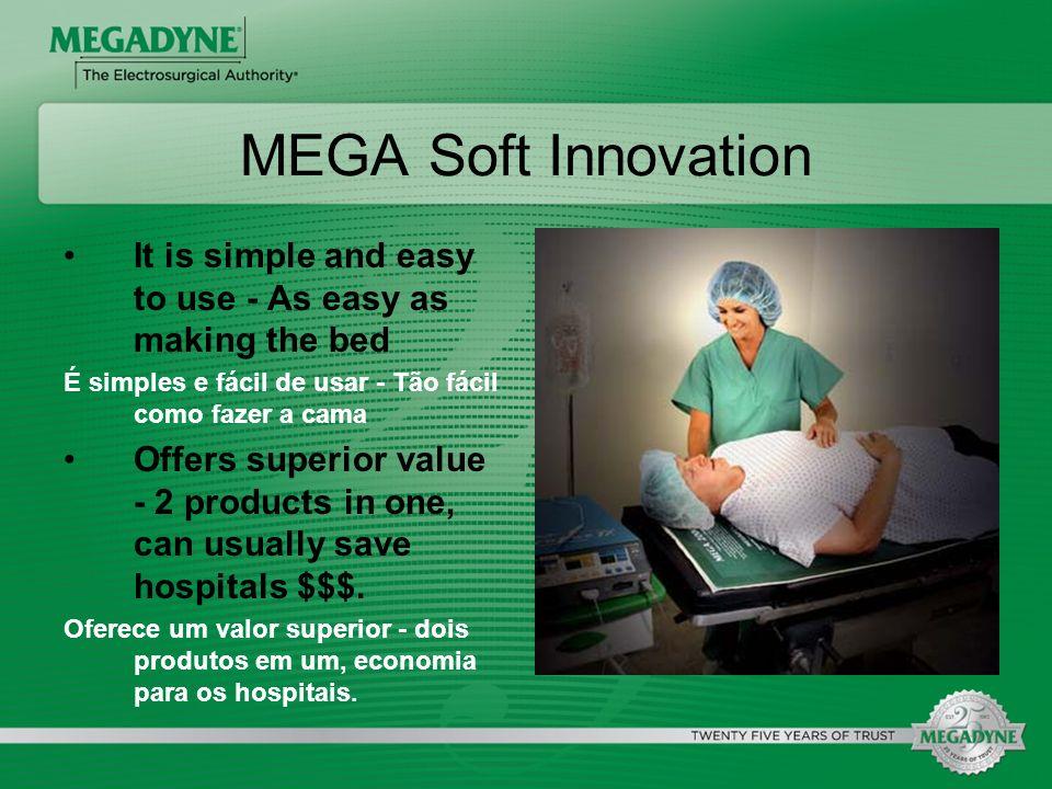 MEGA Soft InnovationIt is simple and easy to use - As easy as making the bed. É simples e fácil de usar - Tão fácil como fazer a cama.