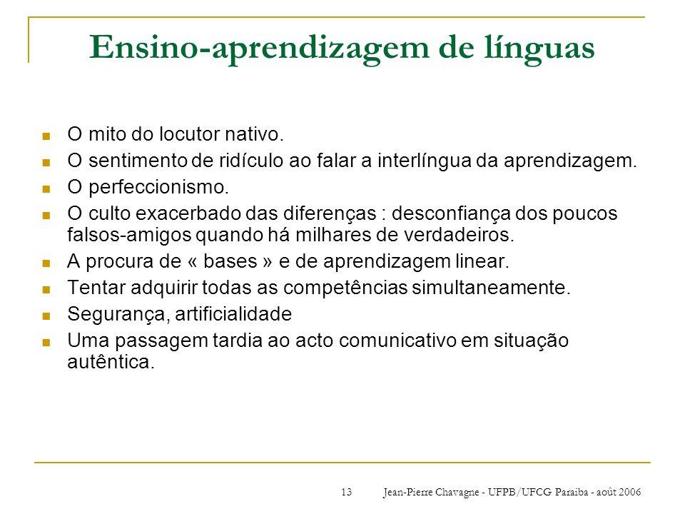 Ensino-aprendizagem de línguas