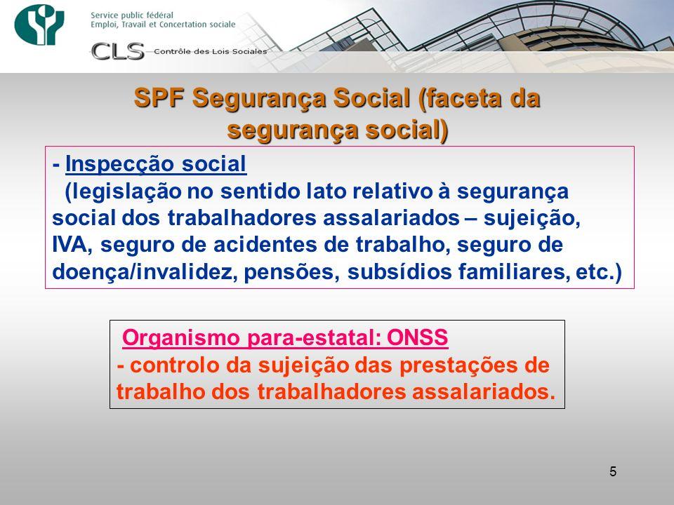 SPF Segurança Social (faceta da segurança social)