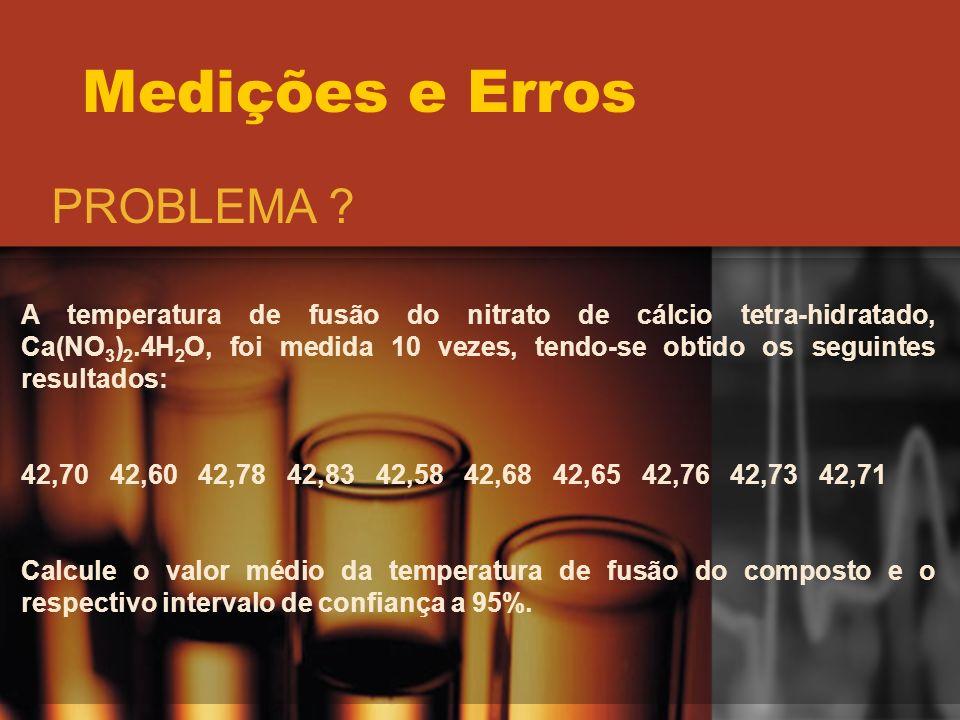 Medições e Erros PROBLEMA