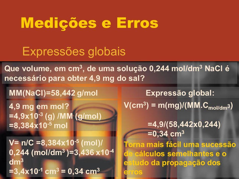 Medições e Erros Expressões globais
