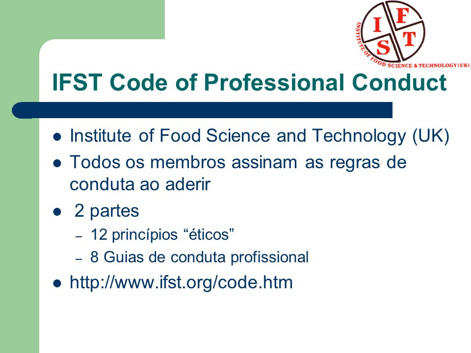 IFST Code of Professional Conduct