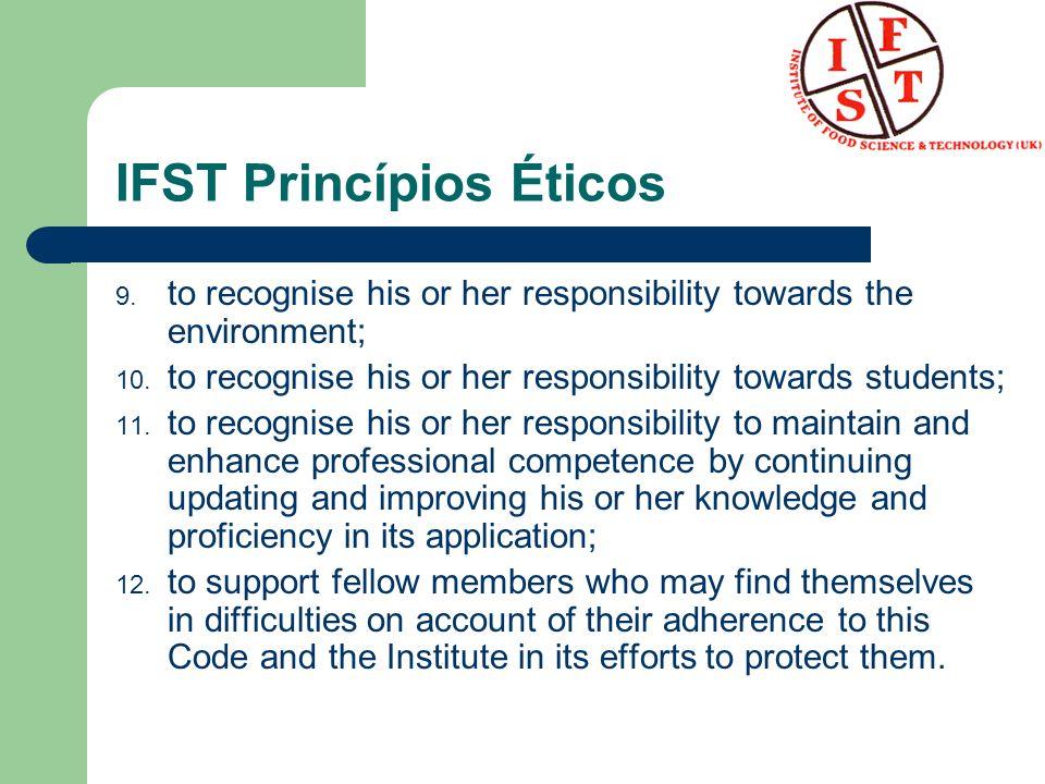 IFST Princípios Éticos