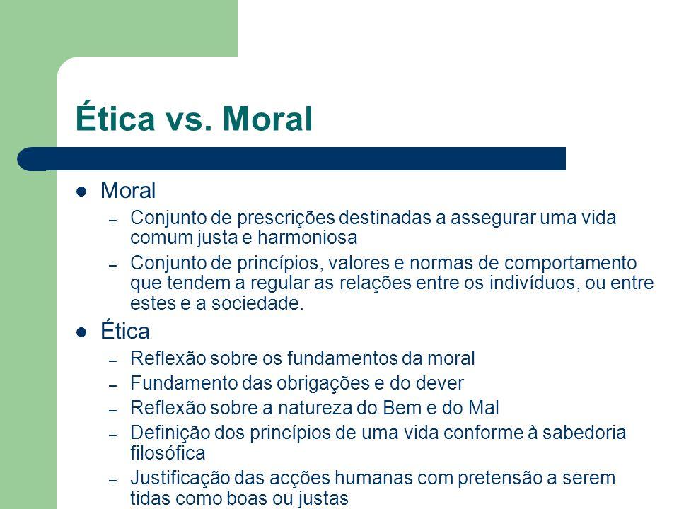 Ética vs. Moral Moral Ética