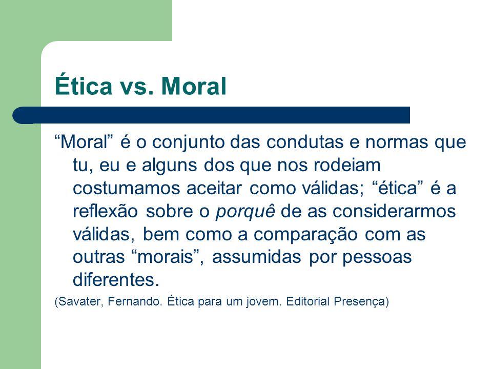 Ética vs. Moral