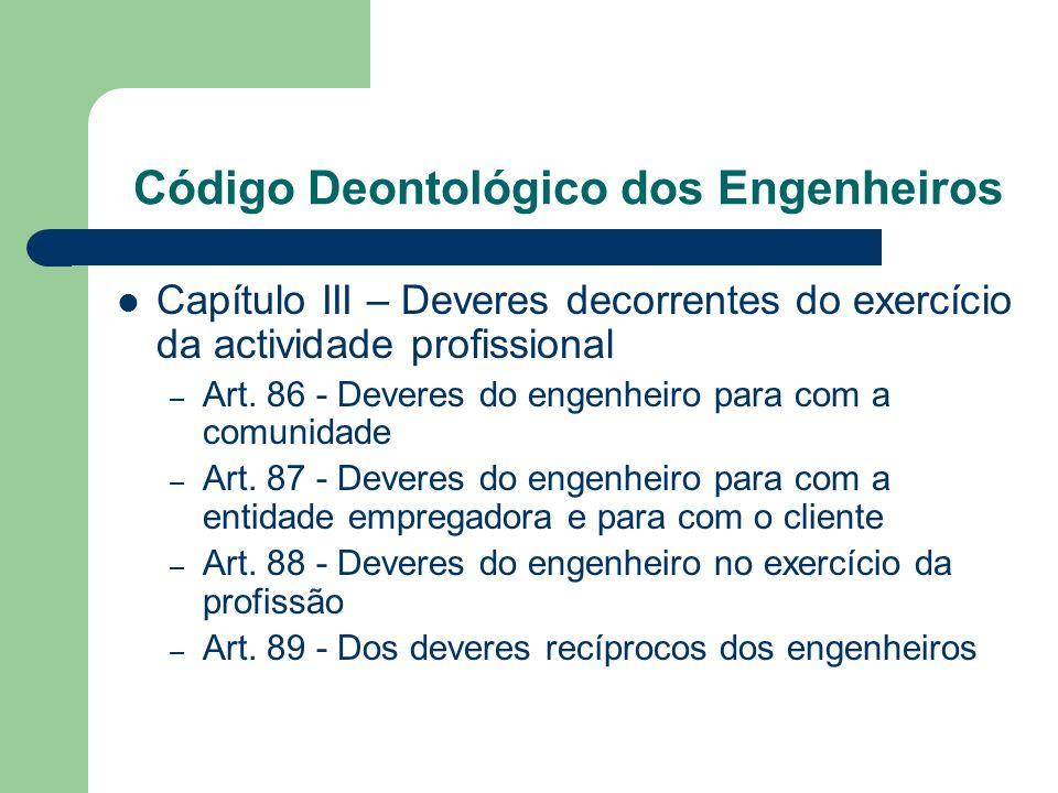 Código Deontológico dos Engenheiros