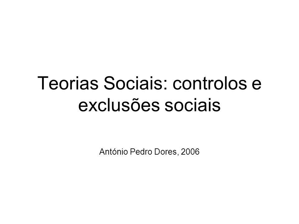 Teorias Sociais: controlos e exclusões sociais