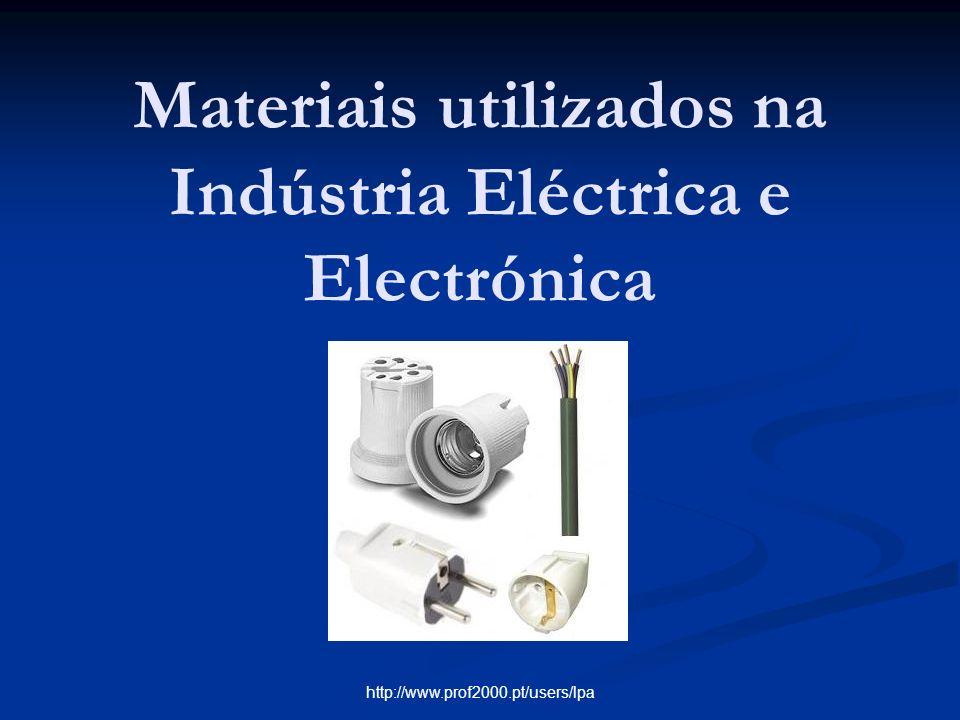 Materiais utilizados na Indústria Eléctrica e Electrónica