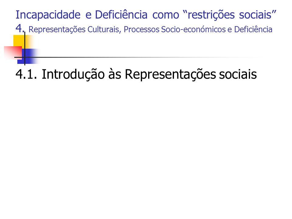4.1. Introdução às Representações sociais