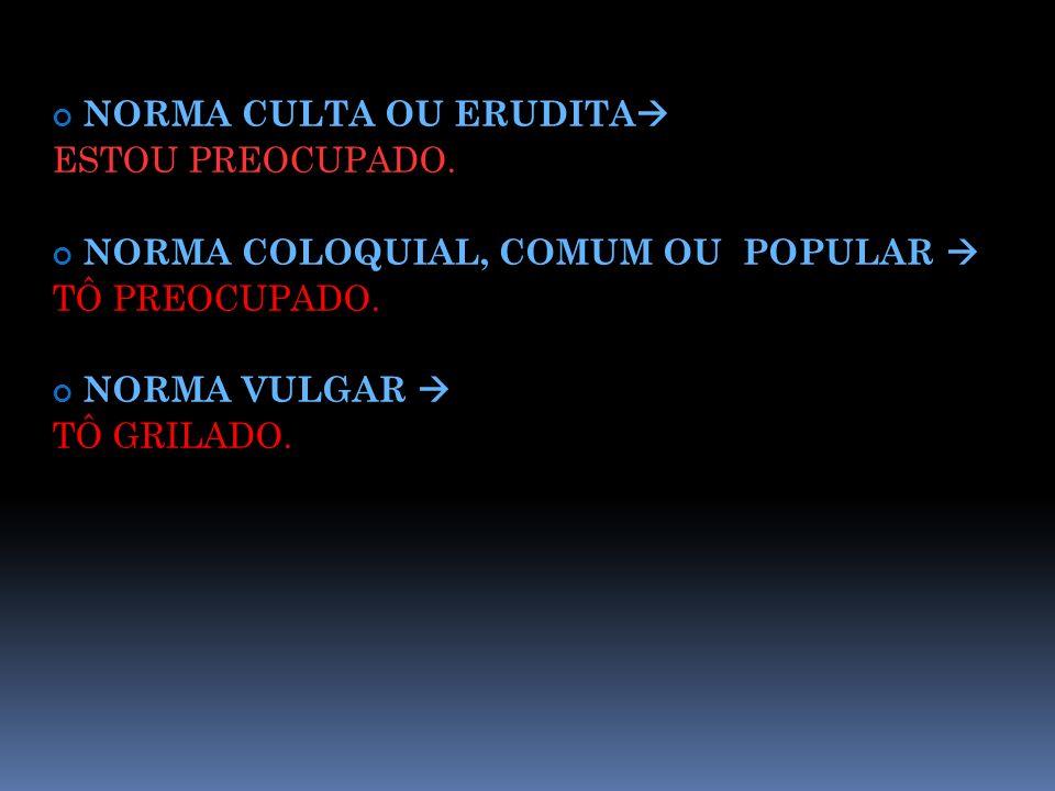 NORMA CULTA OU ERUDITA