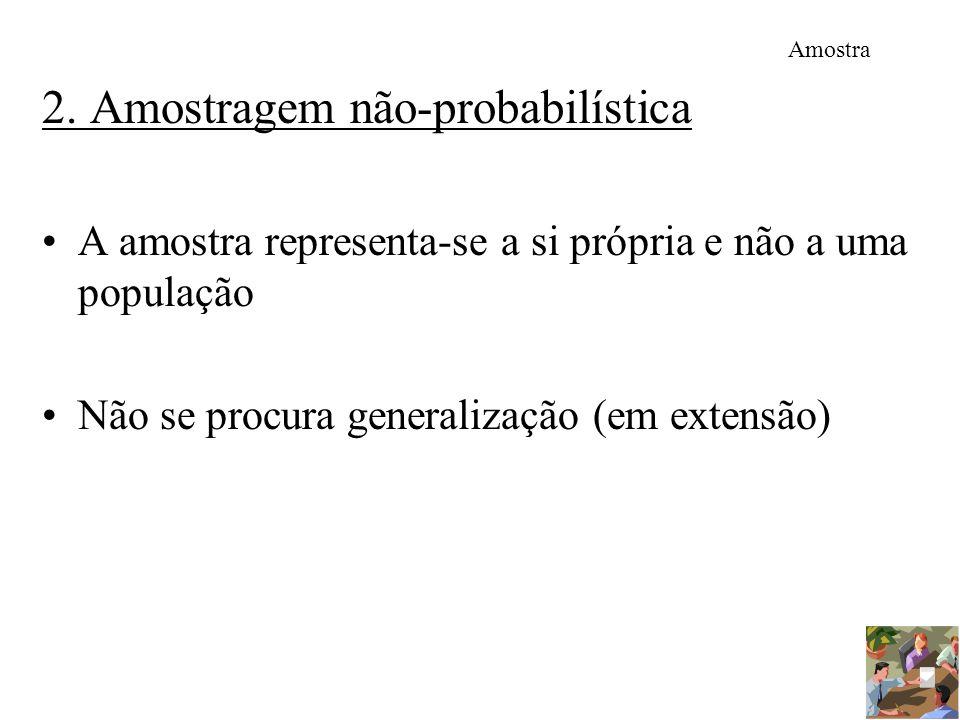 2. Amostragem não-probabilística