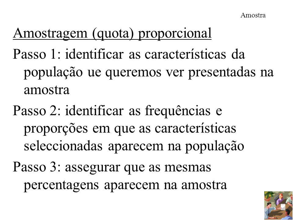 Amostragem (quota) proporcional