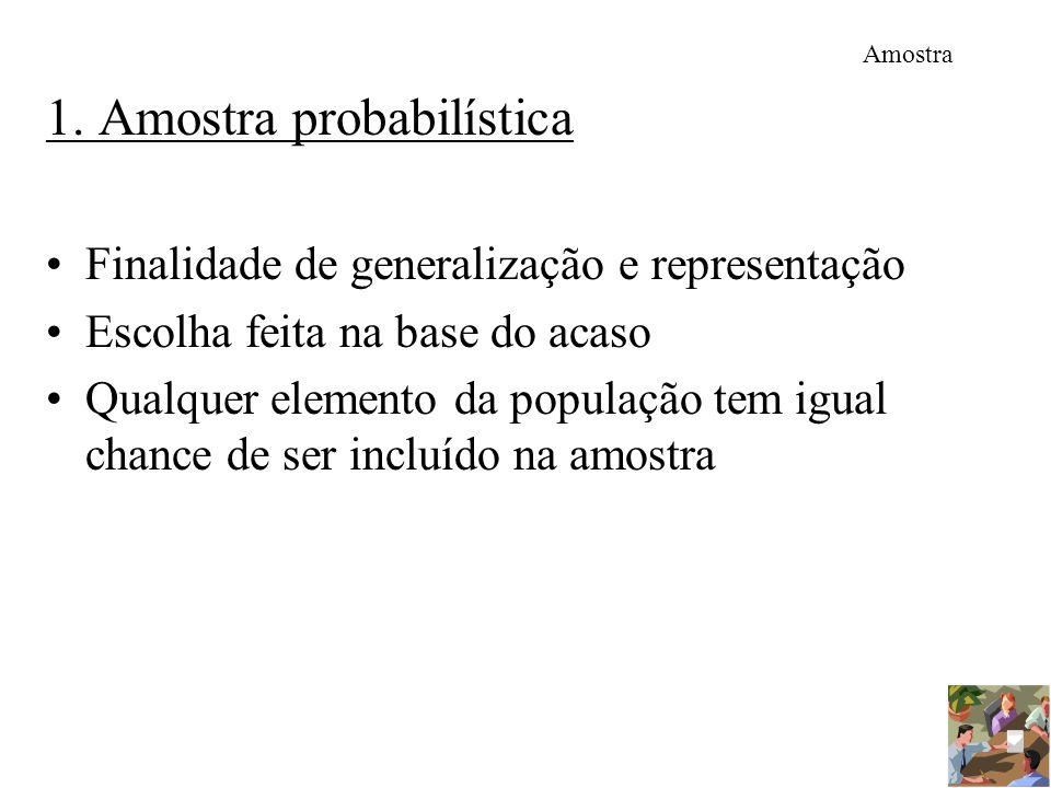 1. Amostra probabilística