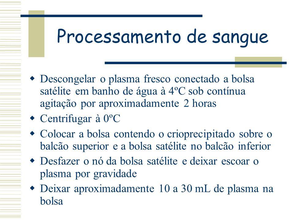 Processamento de sangue