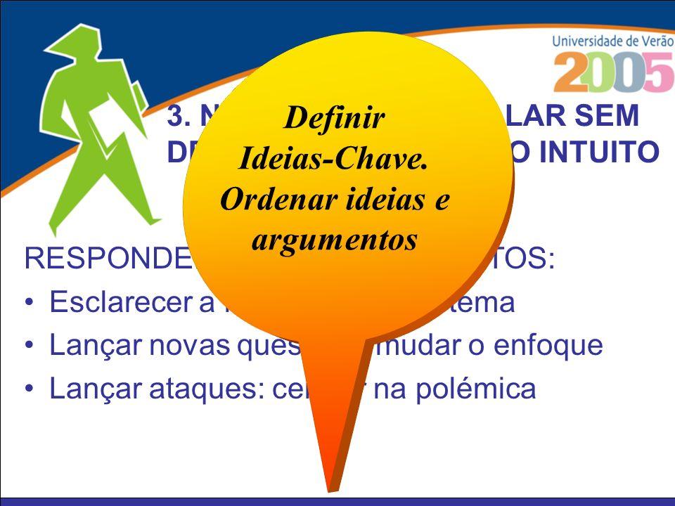 Definir Ideias-Chave. Ordenar ideias e argumentos
