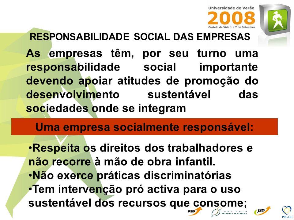 Uma empresa socialmente responsável:
