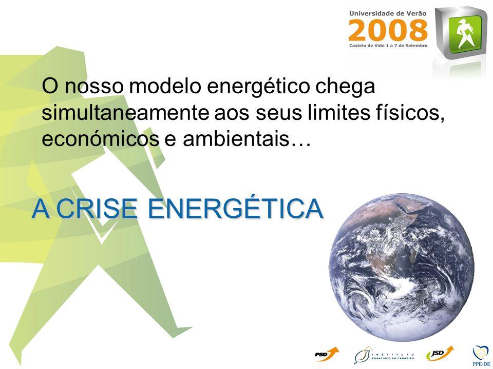 O nosso modelo energético chega simultaneamente aos seus limites físicos, económicos e ambientais…