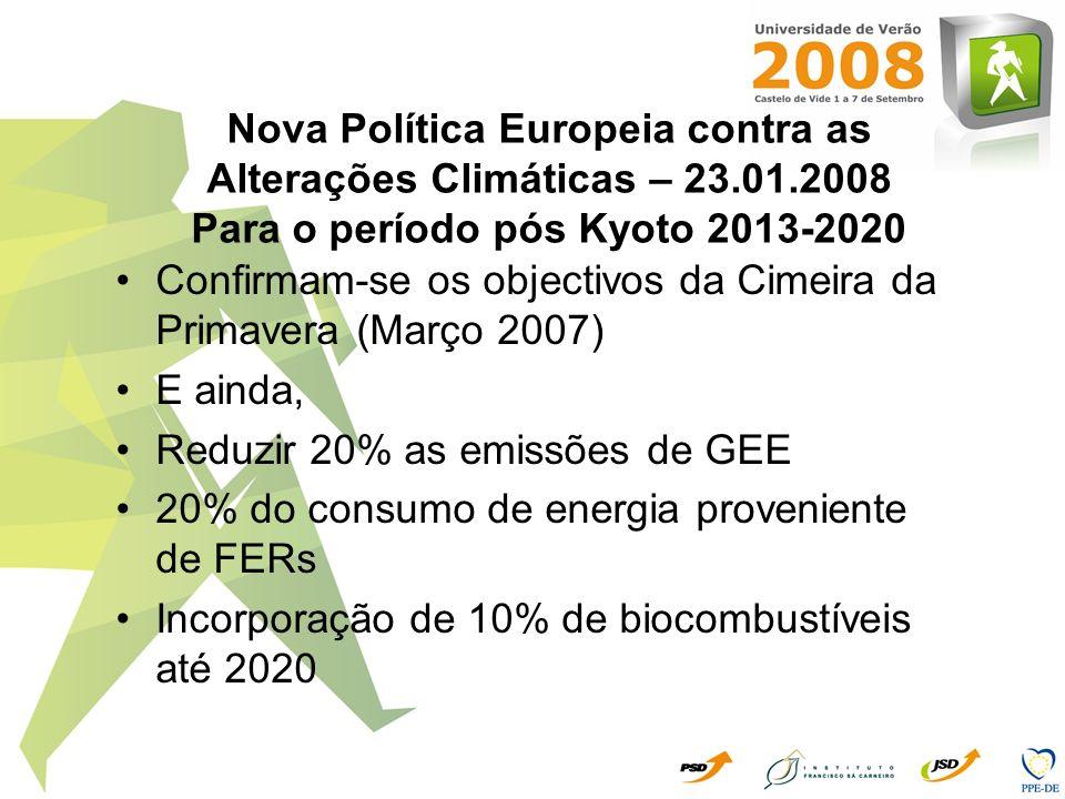 Nova Política Europeia contra as Alterações Climáticas – 23. 01