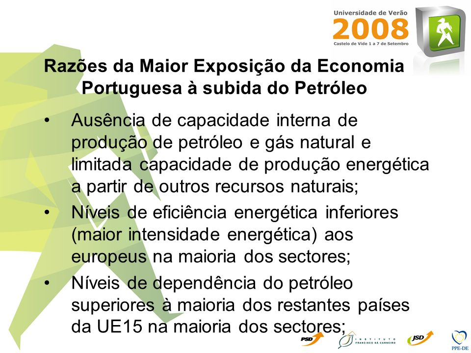Razões da Maior Exposição da Economia Portuguesa à subida do Petróleo