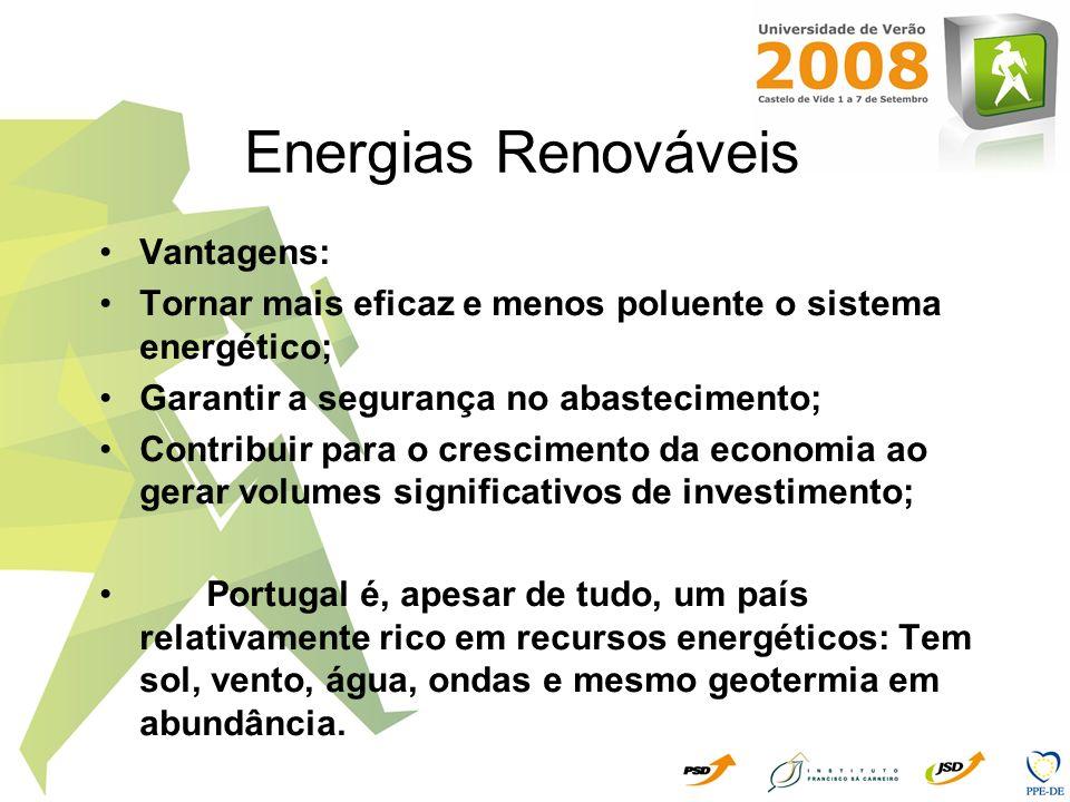 Energias Renováveis Vantagens:
