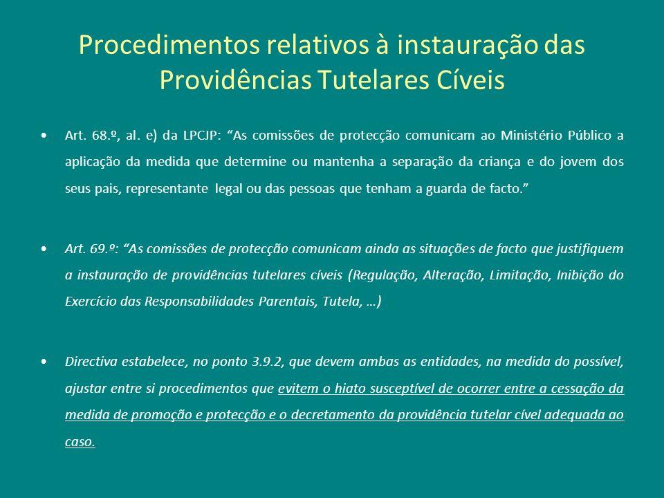 Procedimentos relativos à instauração das Providências Tutelares Cíveis