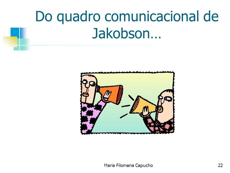Do quadro comunicacional de Jakobson…