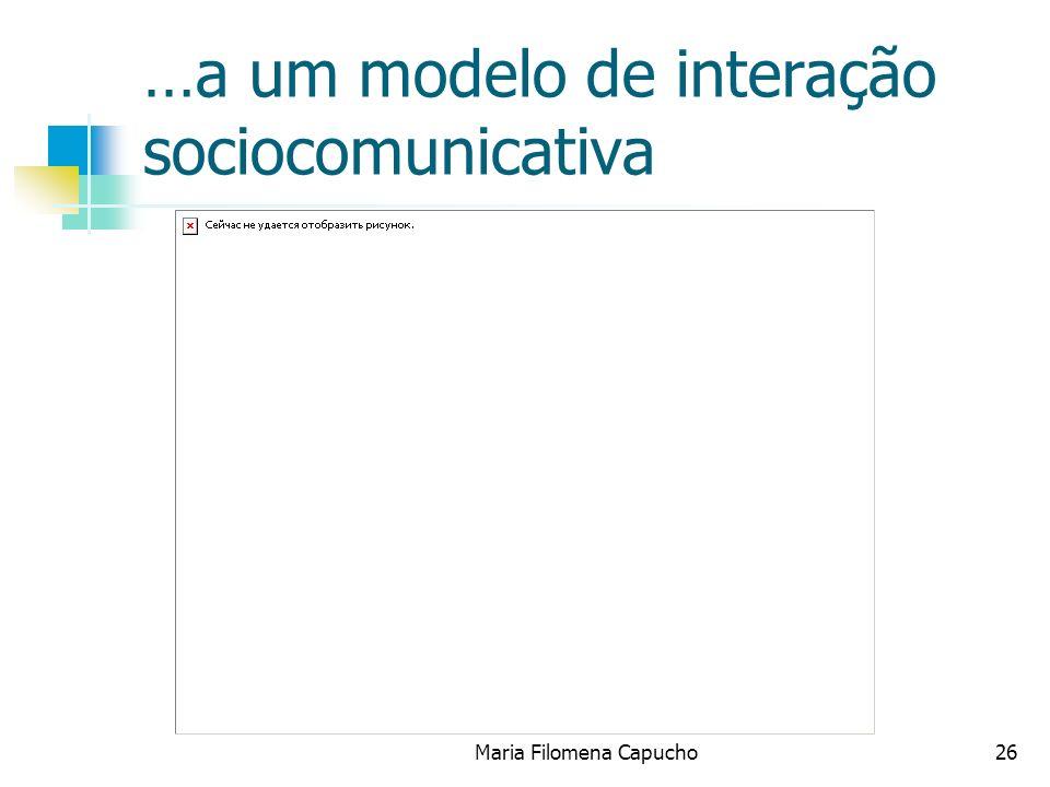 …a um modelo de interação sociocomunicativa